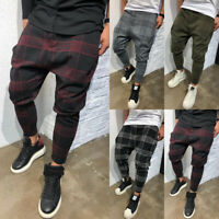 USA Mens Slim Fit Urban Straight Leg Trousers Casual Pencil Jogger Cargo Pants