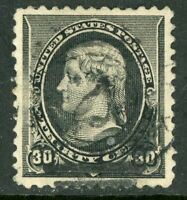 USA 1890 Jefferson 30¢ Black Scott 228 VFU W959
