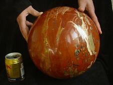 "54.9LB 10"" HUGE NATURAL RED JASPER QUARTZ CRYSTAL SPHERE BALL HEALING Africa"