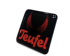 Lautsprecher Teufel 25x25mm 3D Domed Sticker / Gel Aufkleber / Badge / Logo