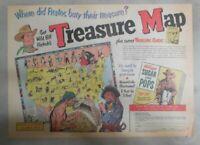 Kellogg's Cereal Ad: Wild Bill Hickok Treasure Map 1952 Size: 11  x 15  inches