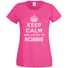 Keep Calm And Listen To Robbie T Shirt Mens Womens Childrens Band Gig