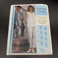 Vintage Sewing Step-by-Step Pattern Misses Miss Petite Summer Outfits Sizes 4-22