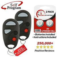 2 Pack Discount Keyless Entry Remote Replacement Car Key Fob For Nissan Sentra NHVBU427