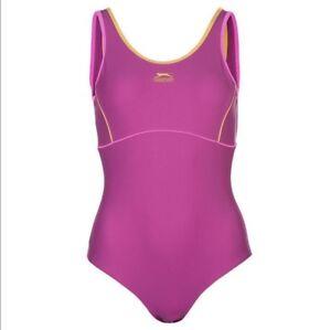 SLAZENGER Ladies Size UK 20 Training Pool Swim Suit Bathing Costume Beach
