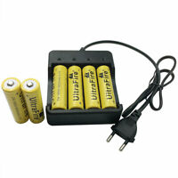 6pcs 18650 Batteries 3.7V 9800mAh Li-ion Rechargeable Battery + 4.2V EU Charger