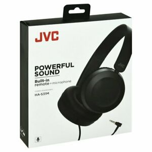 JVC HA-S31MB On Ear Ps Hdst Mic Remote Blk (has31mb)
