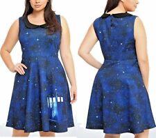 Sale! NEW Torrid BBC DOCTOR WHO Skater Skirt TARDIS Galaxy DRESS  2X 18-20 $89