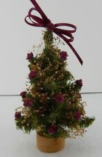 Small Tree w/Fabric Flowers on it Great for Byers Choice Small Scenes 444 No Box