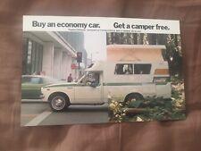 1975 1976 Toyota Chinook Camper USA Market  Sales Brochure Postcard Prospekt