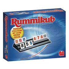Jumbo Rummikub Original XXL Große Zahlen Legespiel Strategiespiel Spiel