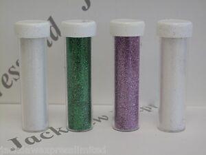 Glitter Set of 4 - White/Iridescent/Green/Purple Cardmaking Scrapbooking AM210