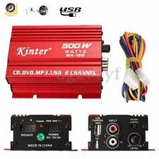Kinter 500w 12V Mini 2CH HiFi Stereo Car Power Amplifier MP3 Audio Speaker + USB