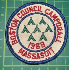Very Rare 1966 Boston Council Camporall MassasoIt USA Scout Badge Sew On blanket
