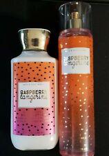 Bath & Body Works Raspberry Tangerine Body Lotion Fragrance Mist Set 8oz New
