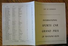 1956 Watkins Glen Entry list Sports car Grand Prix Ferrari Lotus Porsche