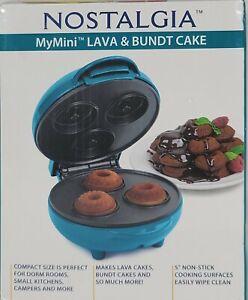 "NOSTALGIA MY MINI PERSONAL LAVA & BUNDT CAKE MAKER 5"" ~~ NIB!"