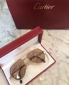 Authentic RARE Vintage Cartier Santos Vendome Diamond Sunglasses 1280063