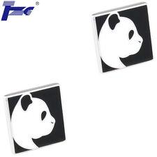 Velvet Bag Tzg Cuff Links Men Panda Head Shirt Cufflinks With