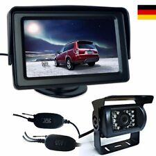 "FUNK 170° Rückfahrkamera Nachtsicht Kamera mit 4,3"" Auto Monitor Wasserdicht DE"