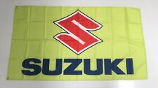 Suzuki Style 3 Banner Flag Car Racing Motorbike Mechanic Workshop Man Cave Bike