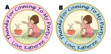 BELLE & BOO AND PERSONALIZED THANK YOU FOR COMING TO MY PARTY STICKERS FAVORS