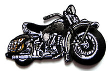 Gray Racing Chopper Motorcycle Biker Embroidered Iron on Patch Free Shipping