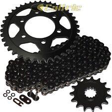 Black O-Ring Drive Chain & Black Sprocket Kit Fits KAWASAKI ZX1000 Ninja ZX-10R