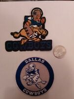 "(2) Dallas Cowboys vintage embroidered iron on Patches Patch Lot 3"" x 3"""