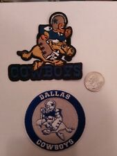 """(2) Dallas Cowboys vintage embroidered iron on Patches Patch Lot 3"""" x 3"""""""