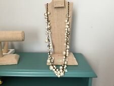 Chloe + Isabel Pearl + Crystal Drops Long Necklace - N012 * NEW Authentic SALE