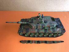 VINTAGE tamiya 1/35 German Modern Battle Tank  Camouflage Green built Up