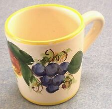 Vietri pottery-Yellow Enza Pattern Mug,Made/painted by hand in ITALY