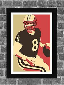 San Francisco 49ers Steve Young Portrait Sports Print Art 11x17