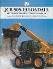 Brochure - JCB - 505-19 - Loadall - Telescopic Materials Handler - c1990 (LT509)