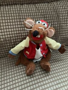 Disney Store Stamped Jim Henson The Muppets RIZZO The Rat Soft Toy Plush Tagged