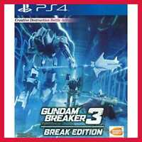 PS4 Gundam Breaker 3 Break Edition English Subtitle For Playstation 4