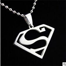 NEW superman woman's Men's Silver 316L Stainless Steel Titanium Pendant Necklace