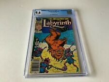 LABYRINTH THE MOVIE 2 CGC 9.6 WHITE PS NEWSSTAND DAVID BOWIE MARVEL COMICS 1986