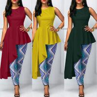 ZANZEA Women Sleeveless Shirt Blouse Tank Tops Swing Asymmetrical CaCamisole