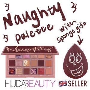 NEW HUDA BEAUTY NAUGHTY NUDE 18 Colours Professional Eyeshadow Palette w/ Sponge