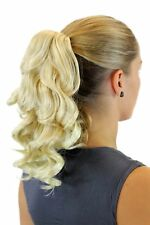 Postiche / Tresse Bouclée 30 cm Épingle à Cheveux-Papillon Blonde Mélange XF
