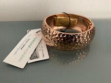 Fitbit Flex 2 Hammered Bracelet Rose Gold Bangle Jewelry Wristband Tracker