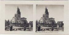 Grande Guerre Eglise Camouflage WW1 Photo Stereo Vintage Argentique