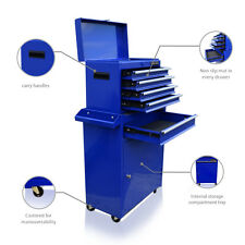 361 US PRO TOOLS BLUE TOOL CHEST ROLLCAB BOX ROLLER CABINET BALL BEARING DRAWERS