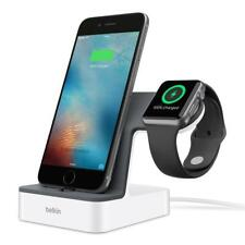 BELKIN PowerHouse Charging Dock Station Holder Stand for Apple Watch iPhone Whit