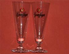 CROWN LAGER BEER GLASSES. Set of Two. GR8 as new condition.UNUSED Lager Glasses