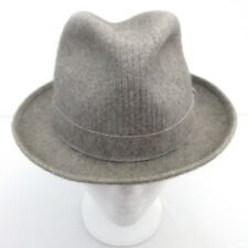 Vintage Borsalino Fedora Hat Gray Felt Made in Italy Mens Size 6 7/8 Small