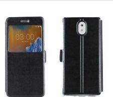 Housse de protection pour Nokia 6 noir pochette Porte Feuille