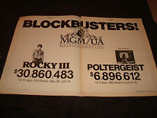 ROCKY III & POLTERGEIST 1982 box office ad Sylvester Stallone & 'They're here.'